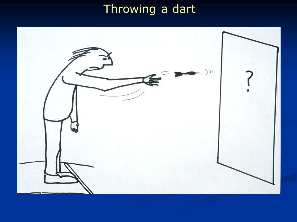 Throwing a dart