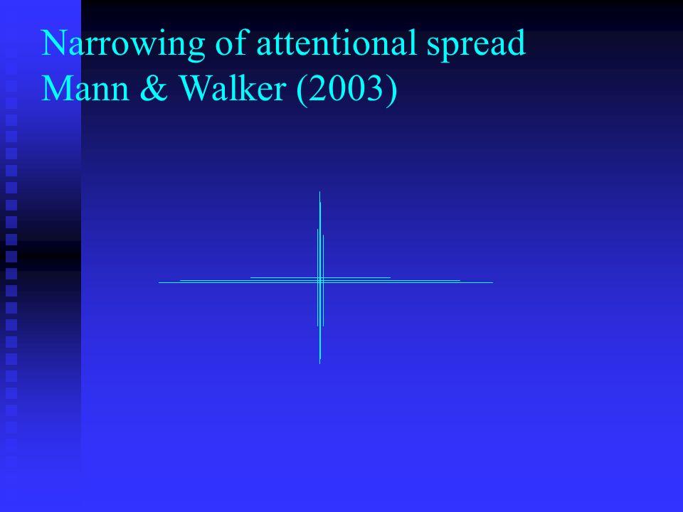 Narrowing of attentional spread Mann & Walker (2003)