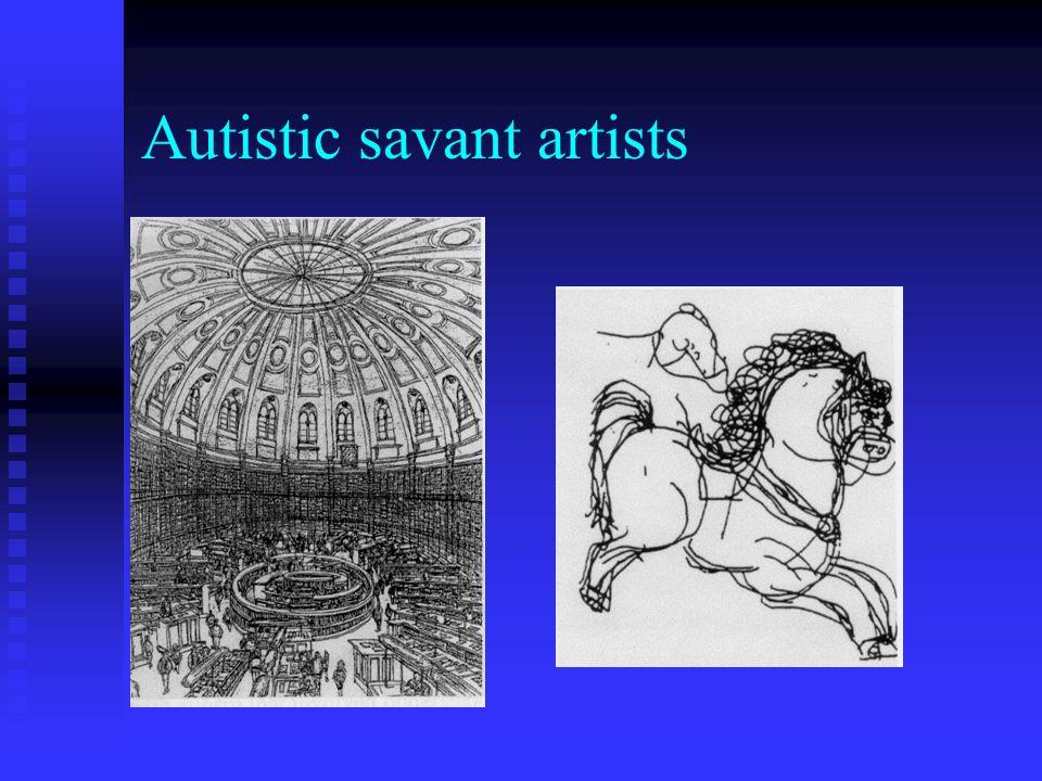 Autistic savant artists