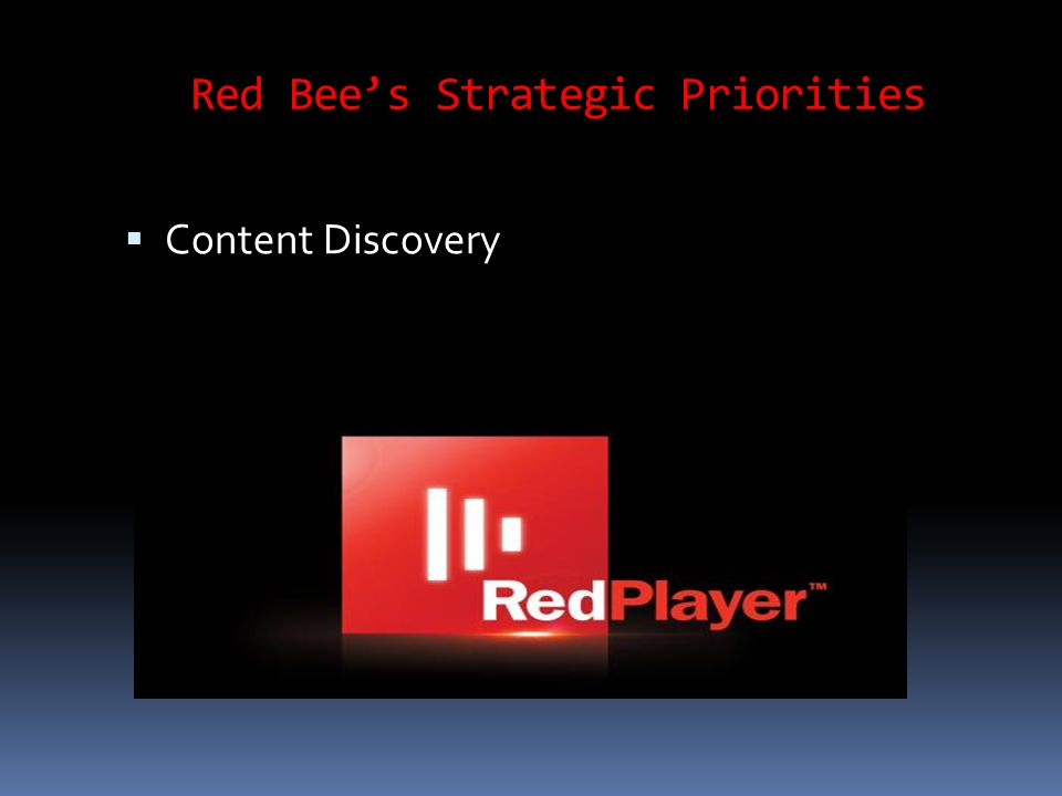 Red Bees Strategic Priorities Content Discovery
