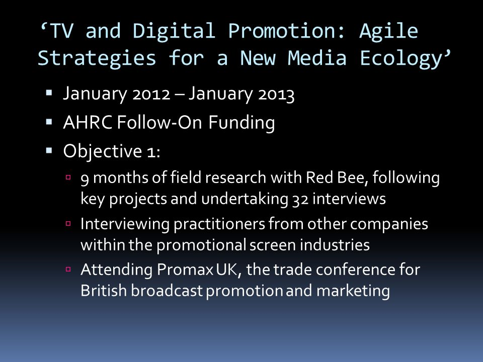Red Bees Strategic Priorities Promotional Agility