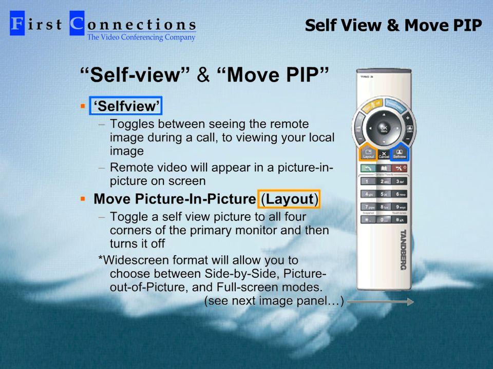 Self View & Move PIP