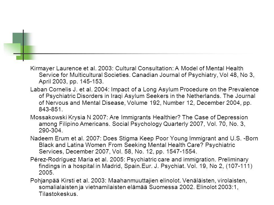 Kirmayer Laurence et al.