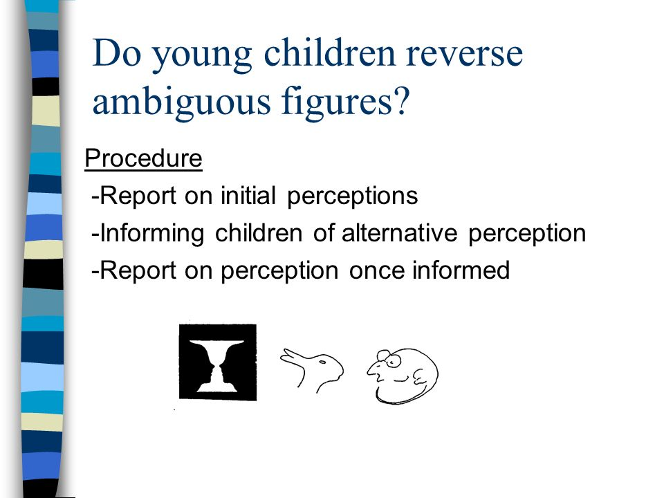Do young children reverse ambiguous figures.