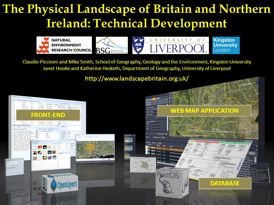 GEOMORPHOLOGY THEMATIC (e.g.the BRITICE project ) SPATIALLY RESTRICTED (e.g.