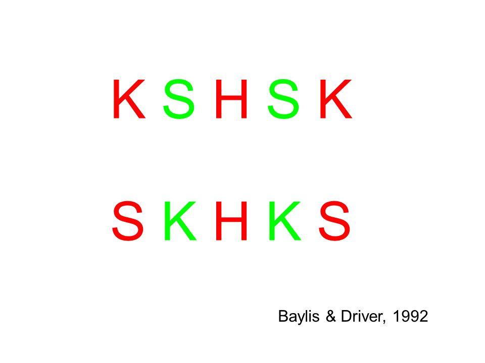 K S H S KK S H S K S K H K SS K H K S Baylis & Driver, 1992
