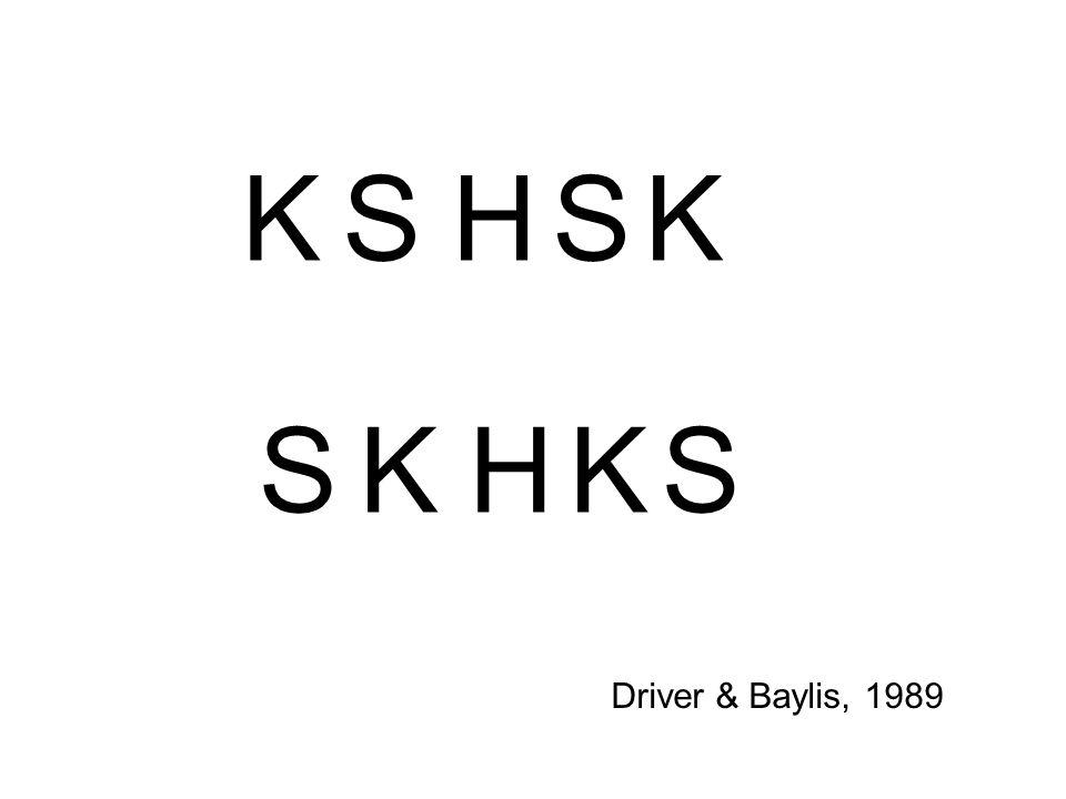 KSKSH SKSKH Driver & Baylis, 1989