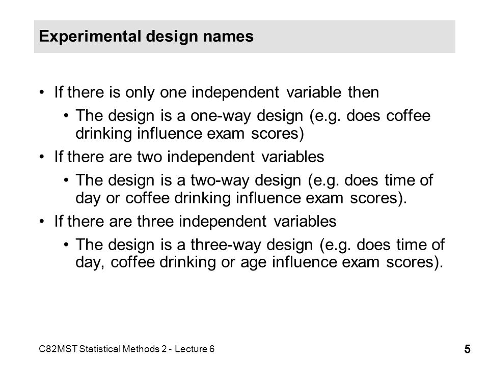 C82MST Statistical Methods 2 - Lecture 6 26 What does it mean.