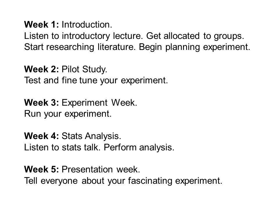 Week 1: Introduction. Listen to introductory lecture.