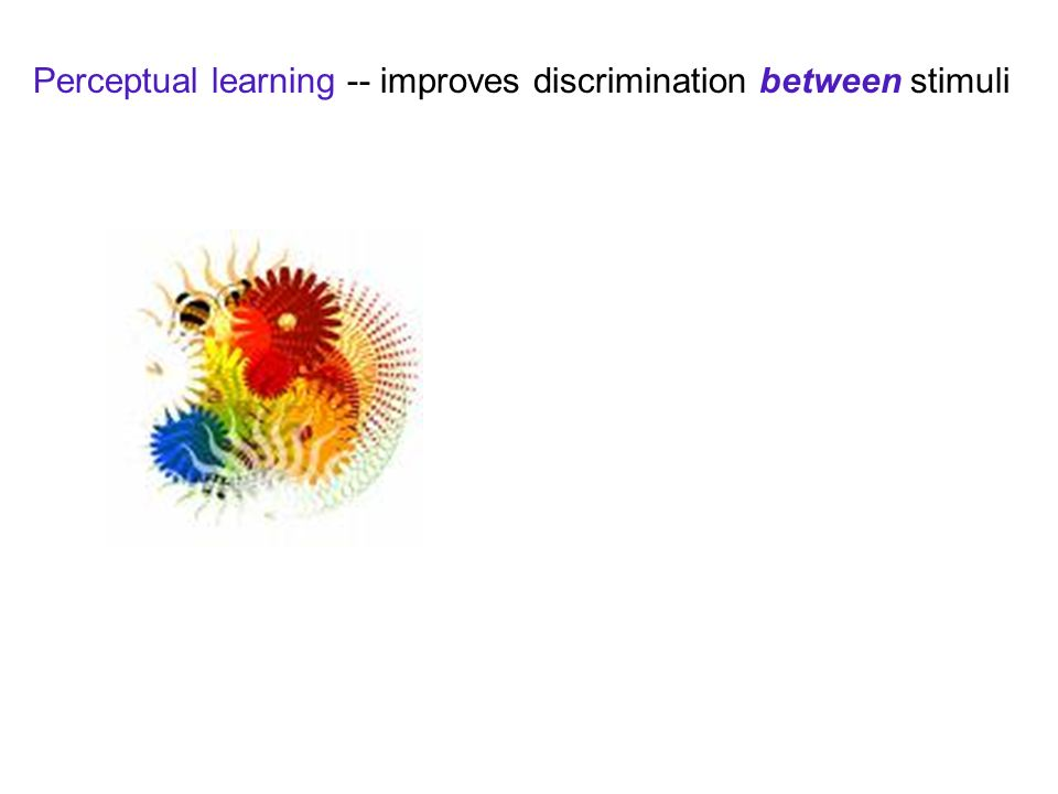 Perceptual learning -- improves discrimination between stimuli
