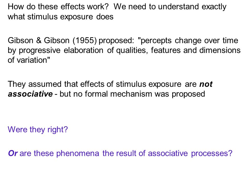 References Baker, A.G., & Mercier, P.(1982). Extinction of the context and latent inhibition.
