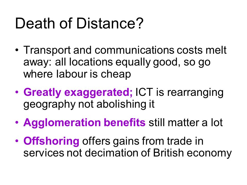 Death of Distance.