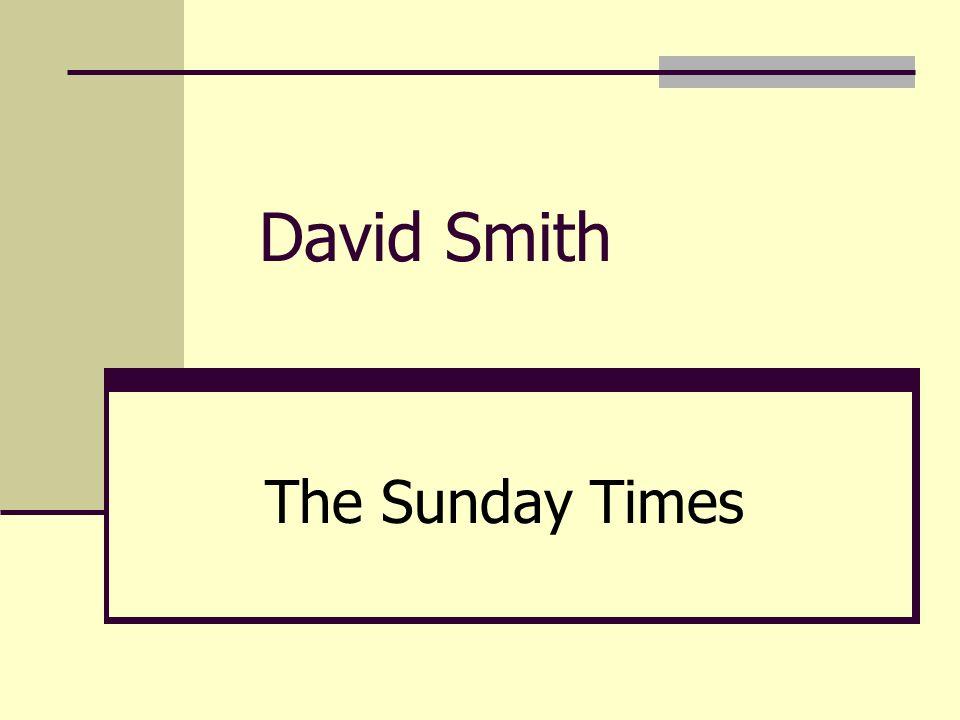 David Smith The Sunday Times