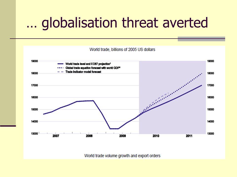 … globalisation threat averted