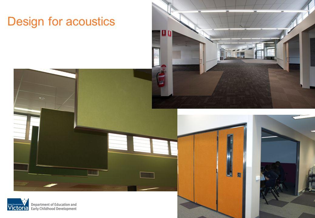 Design for acoustics
