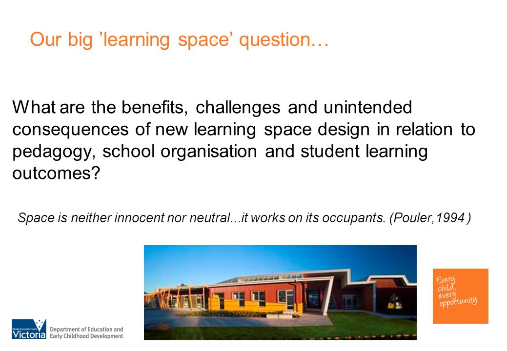 What are the benefits, challenges and unintended consequences of new learning space design in relation to pedagogy, school organisation and student le