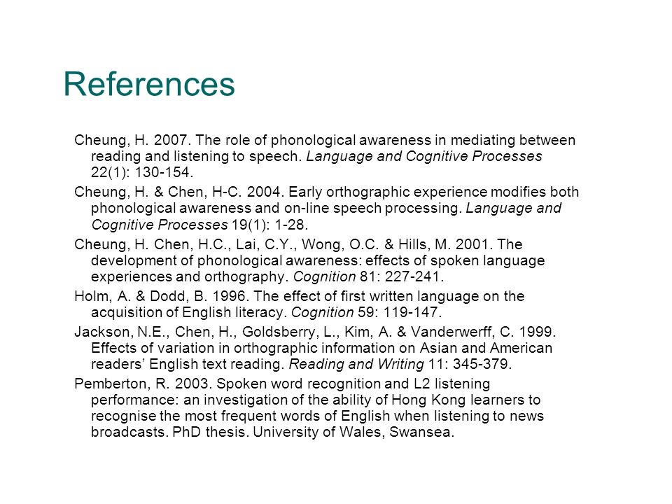 References Cheung, H. 2007.