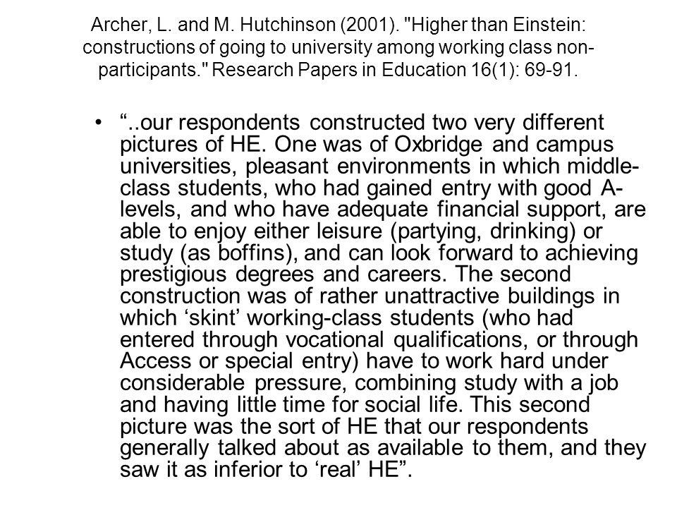 Archer, L. and M. Hutchinson (2001).