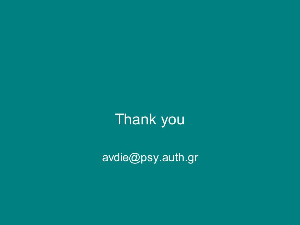 Thank you avdie@psy.auth.gr