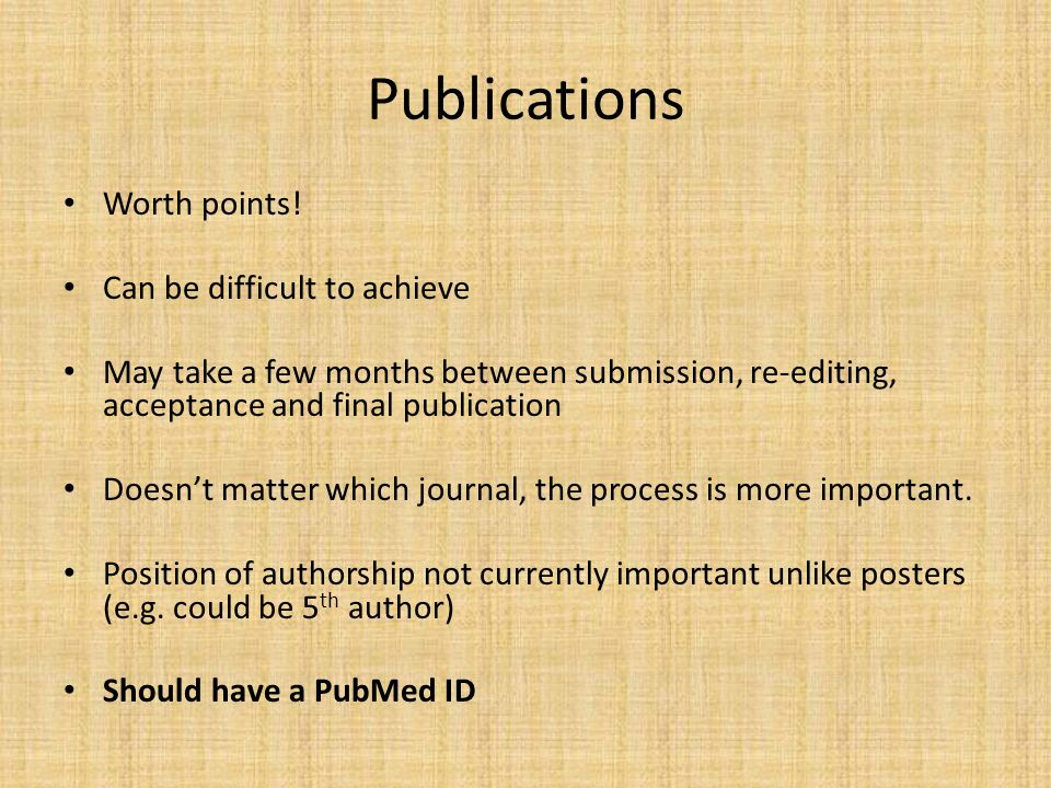Publications Worth points.
