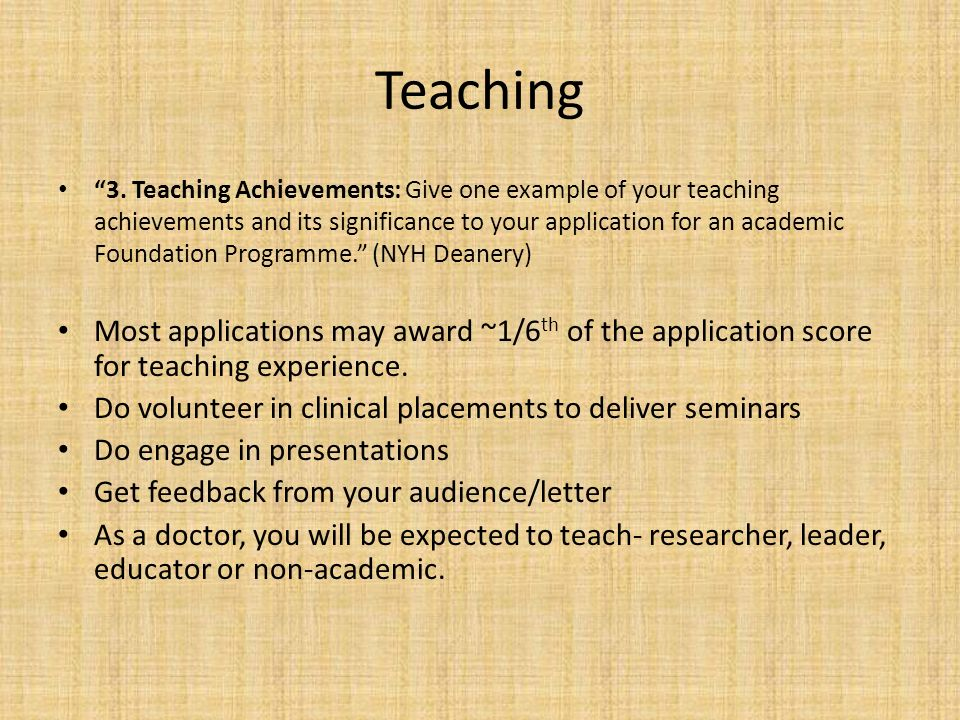 Teaching 3.