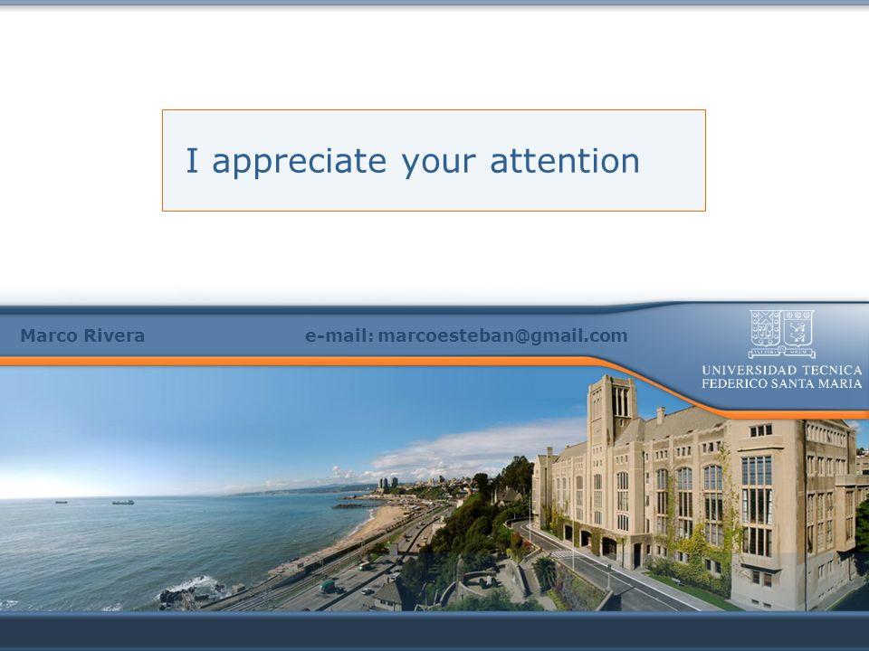 I appreciate your attention Marco Rivera e-mail: marcoesteban@gmail.com