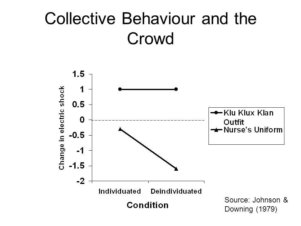 Collective Behaviour and the Crowd Source: Johnson & Downing (1979)