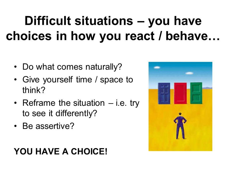 Assertive Techniques Basic assertion Responsive assertion Empathetic assertion Fogging Instant replay Discrepancy assertion Negative feelings Consequence assertion