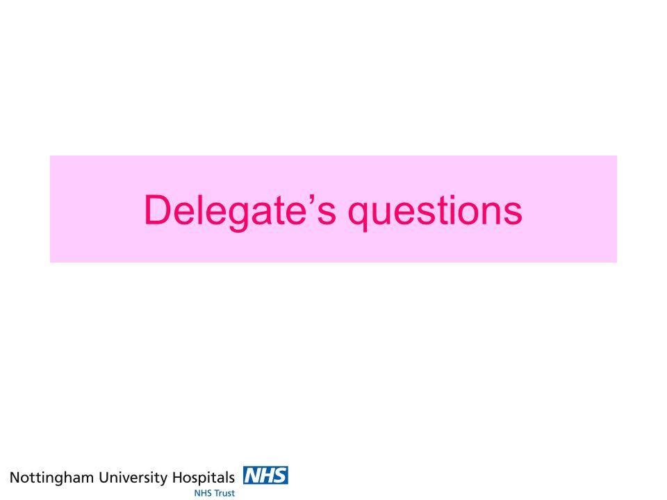Delegates questions