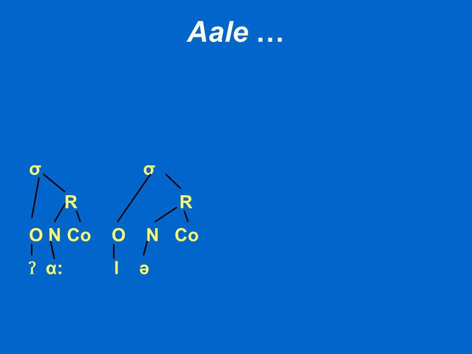Aale … σ R R O N Co ʔ α: l ə