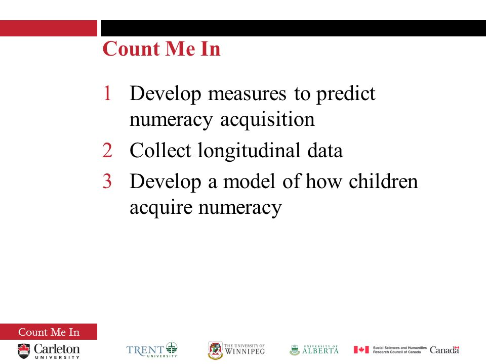Count Me In Do early numeracy skills predict mathematical learning.