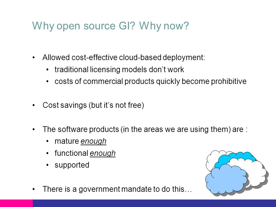 Why open source GI.Why now.
