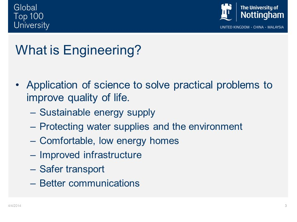 4/4/20143 What is Engineering.