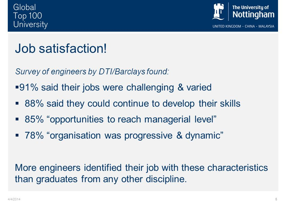 4/4/20145 Job satisfaction.
