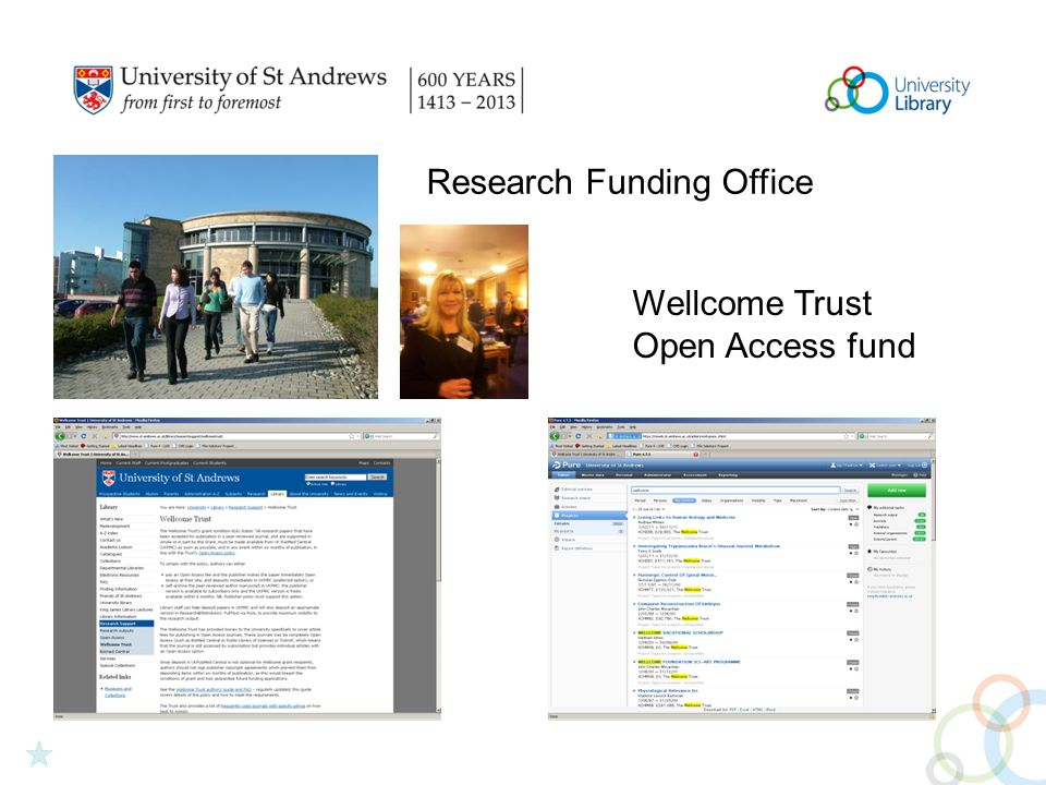 Research Funding Office Wellcome Trust Open Access fund