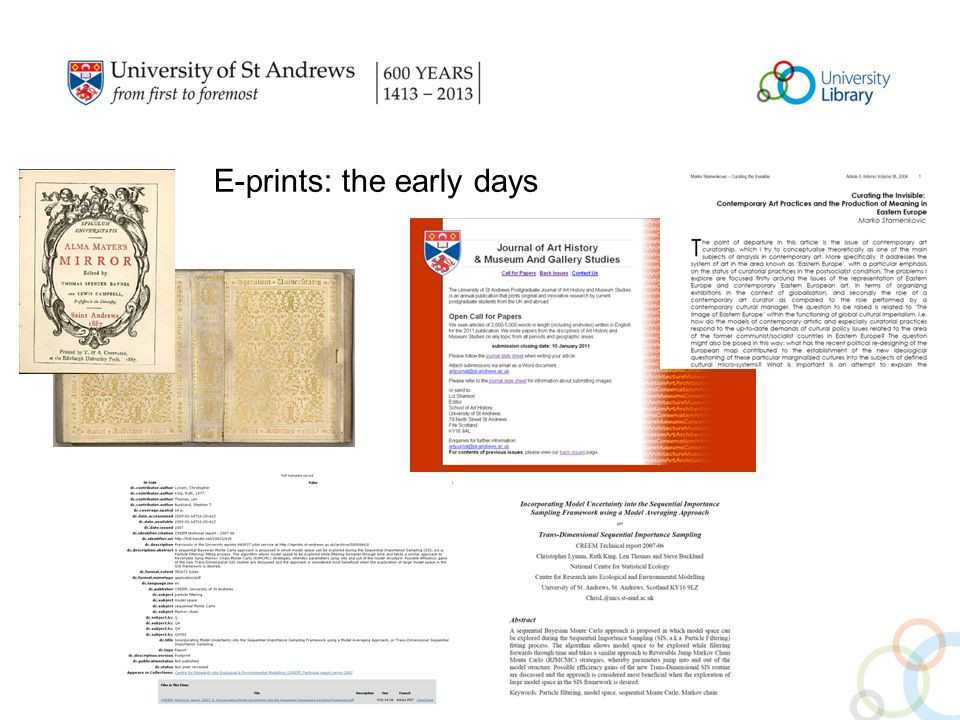 E-prints: the early days