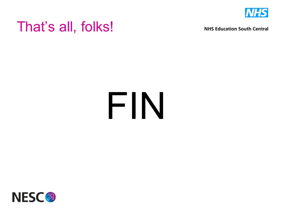 Thats all, folks! FIN