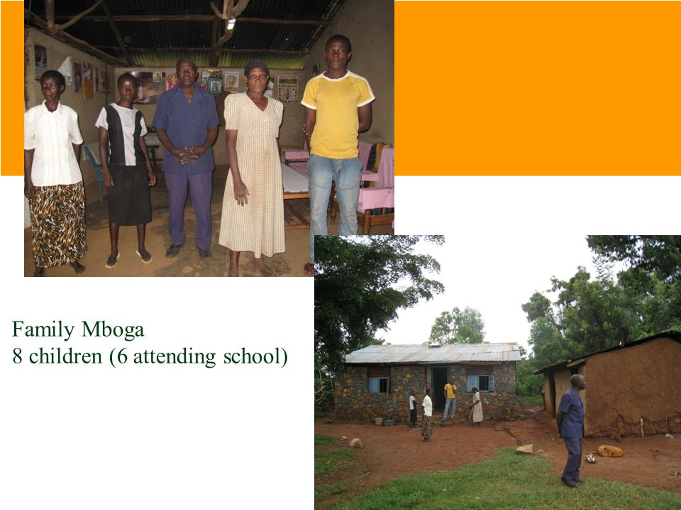 Family Mboga 8 children (6 attending school)