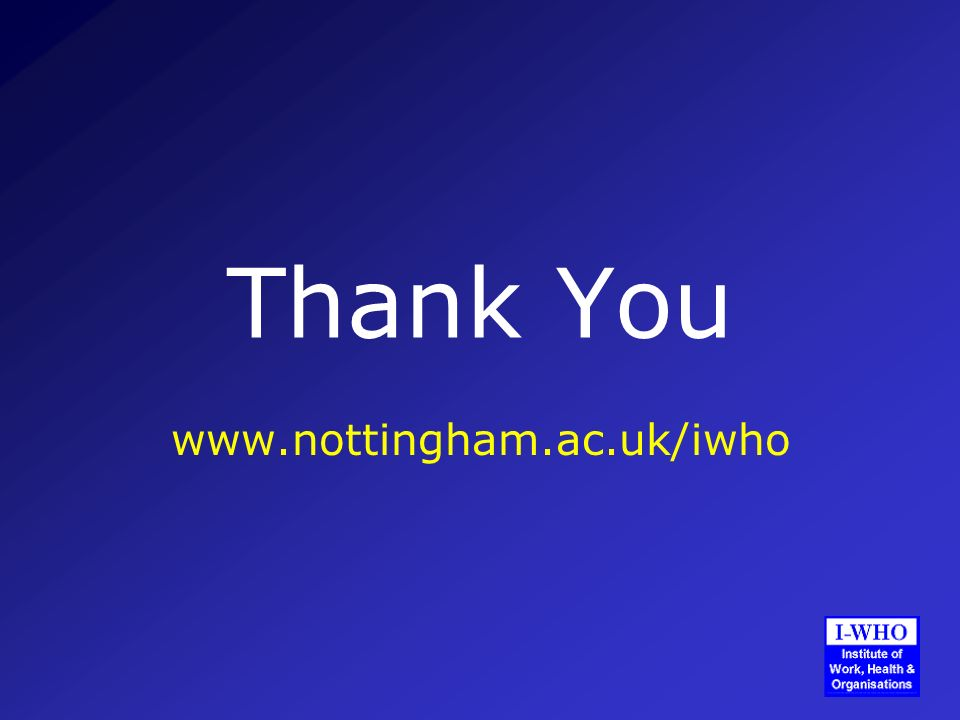 Thank You www.nottingham.ac.uk/iwho