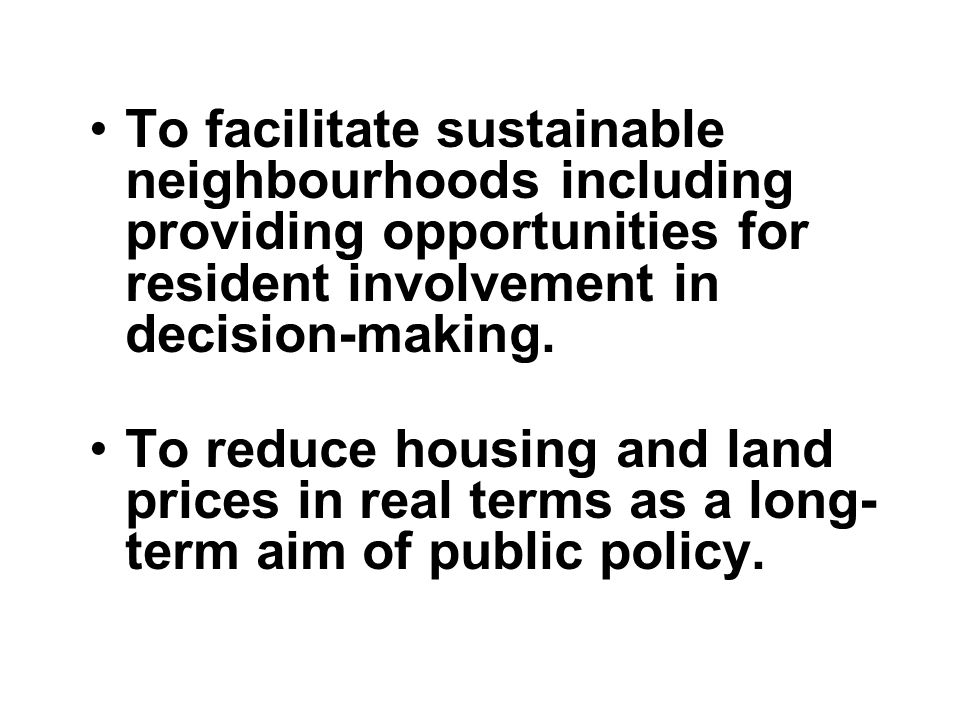 What we should support Direct development by councils on their own land of social housing at target rents with security of tenure.