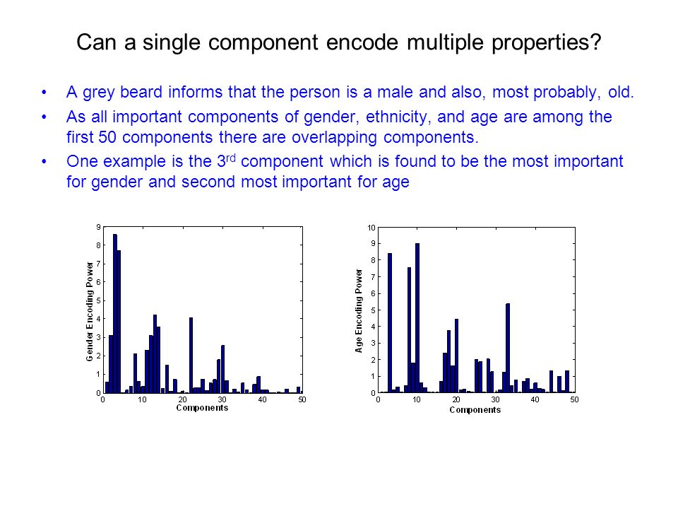 Can a single component encode multiple properties.