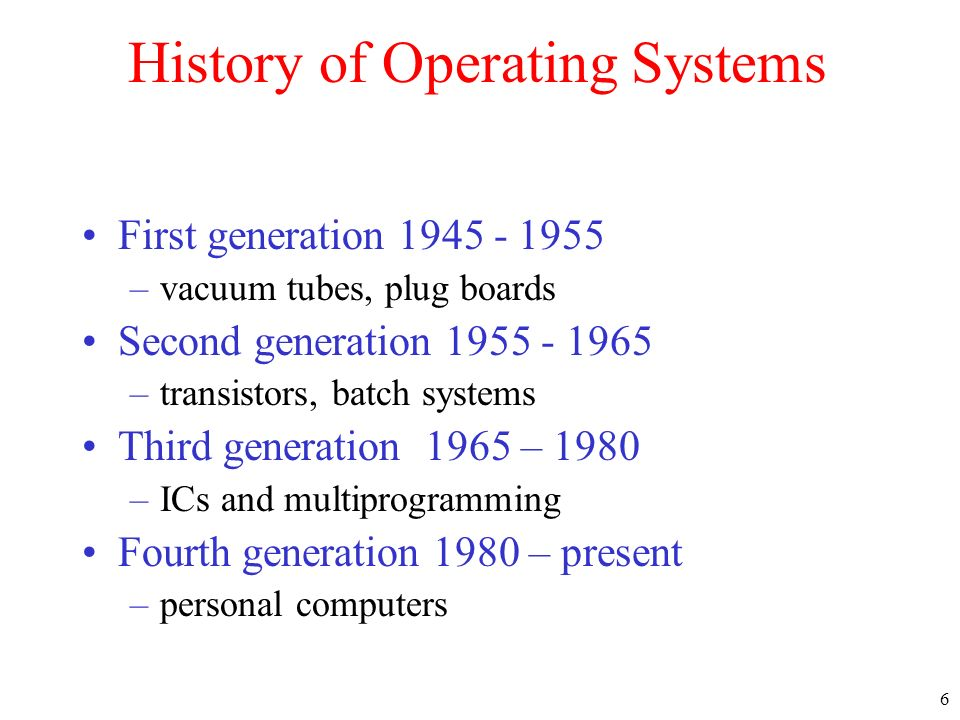 27 System Calls Interface between OS and user programs (to perform privileged operations) Machine dependent, but procedure libraries