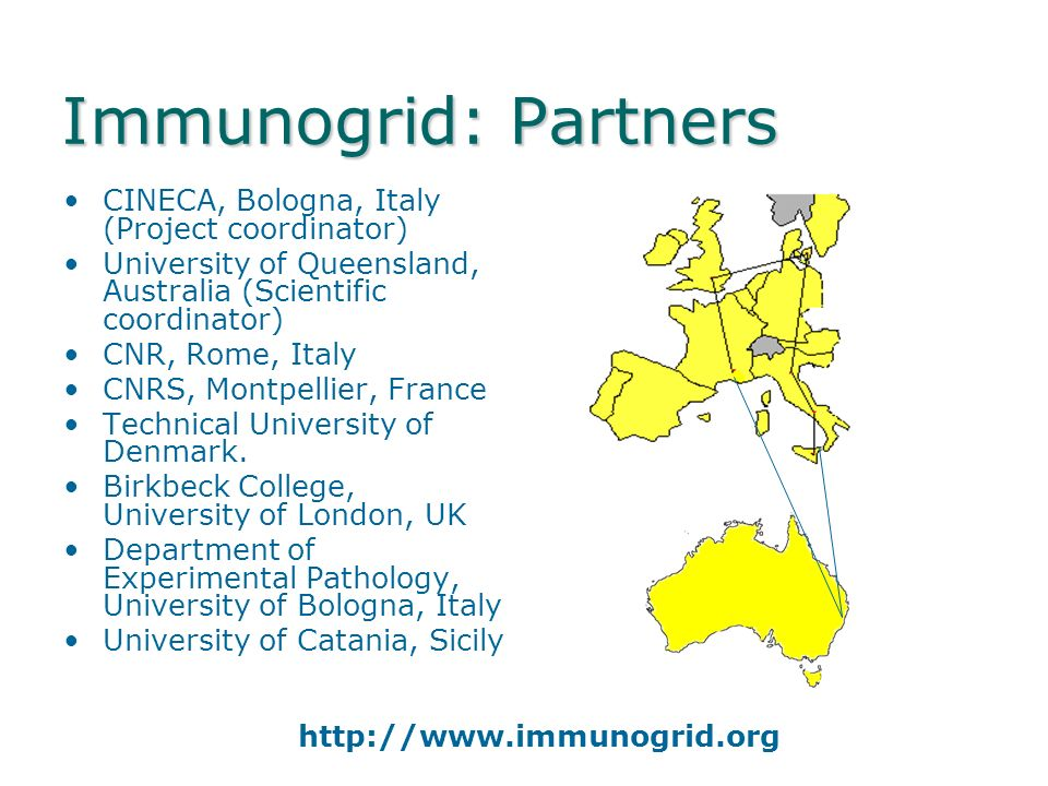 ImmunoGrid …a 3 year project funded by the European Union which will establish an infrastructure for the simulation of the immune system that integrat