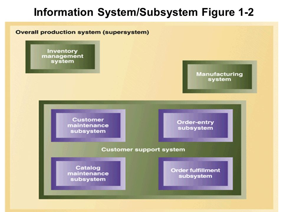 5 1 Information System/Subsystem Figure 1-2