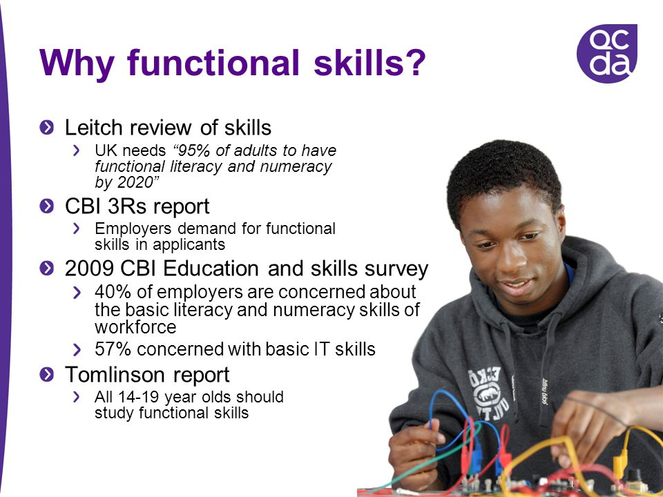 Why functional skills.