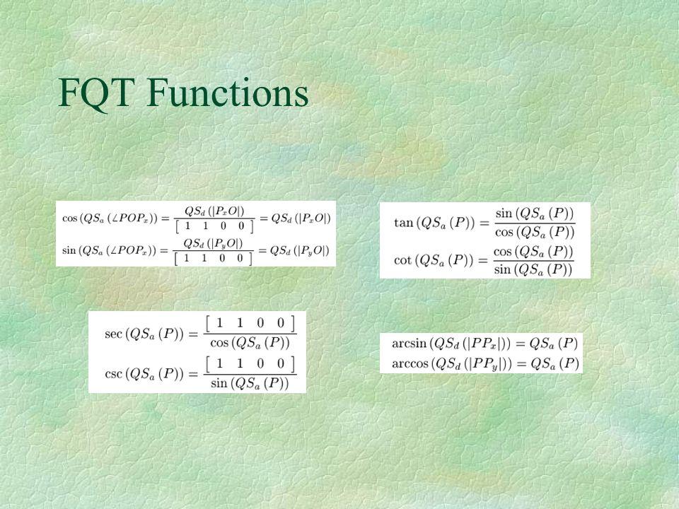 FQT Functions