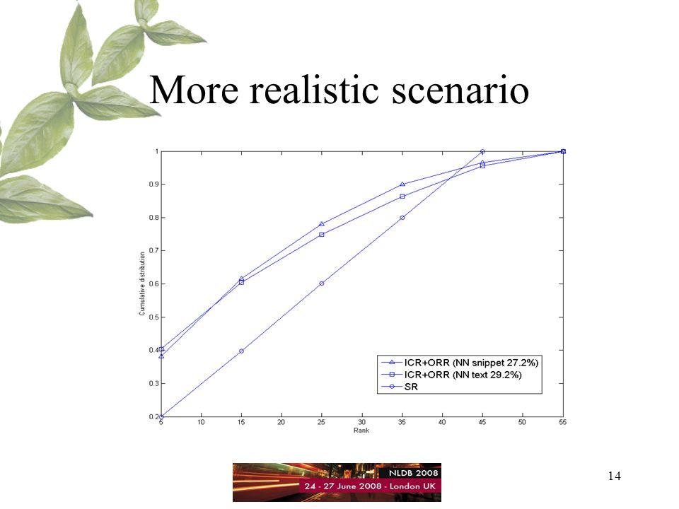 14 More realistic scenario