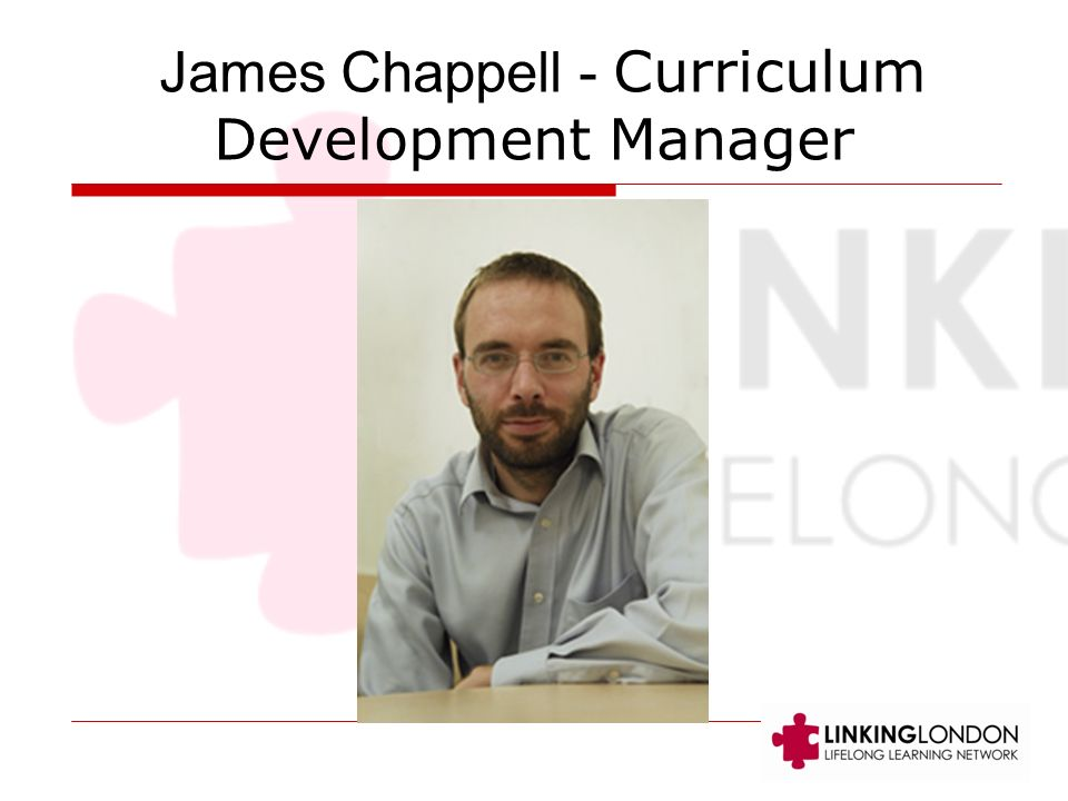 James Chappell - Curriculum Development Manager