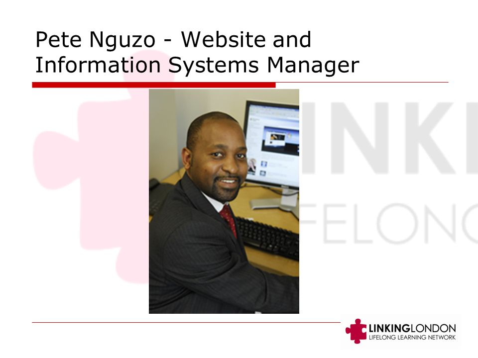 Pete Nguzo - Website and Information Systems Manager