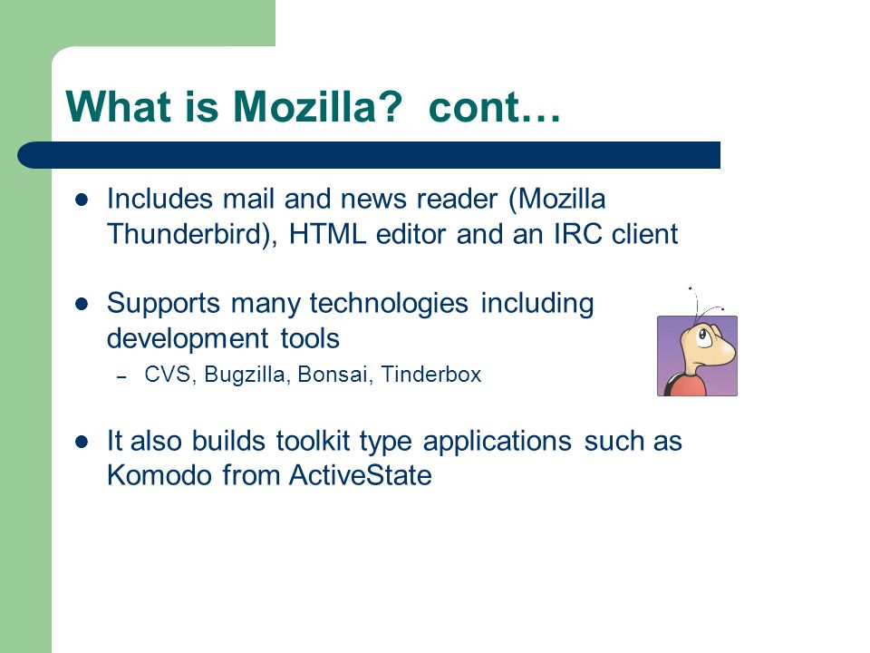 What is Mozilla.